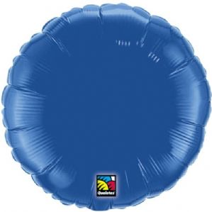 Dark Blue Round Foil Balloon