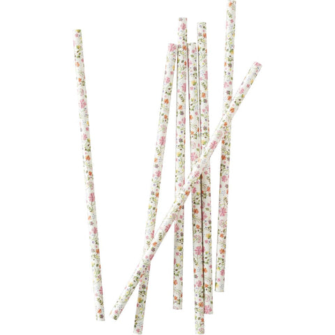 Ditsy Floral Paper Straws, 25 Pcs