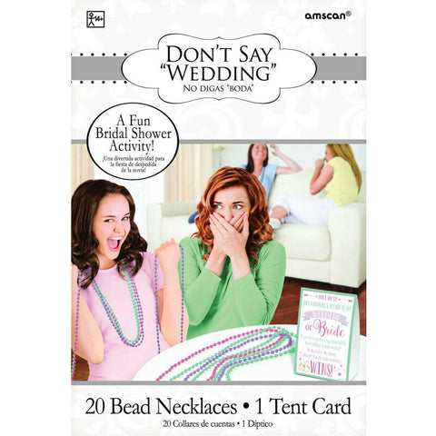 Dont' Say Wedding Game