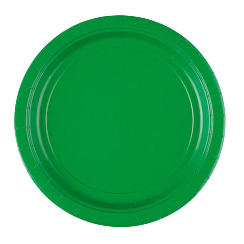 Festive Green Luncheon Paper Plates, 8ct