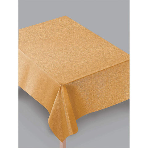 Metallic Gold Fabric Table Cover