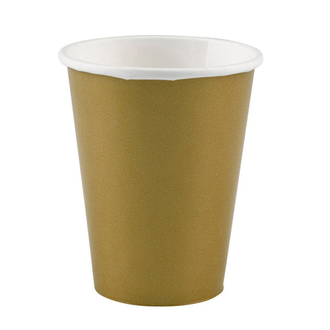 Gold Paper Cups, 8 Pcs