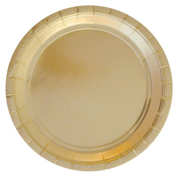 Gold Foil Large Plate, 10 Pcs