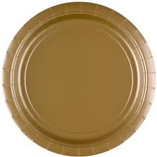 Gold Paper Plates, 8 Pcs (2 sizes)