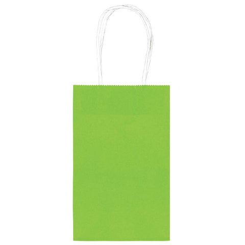 Kiwi Green Paper Party Bags, 10ct
