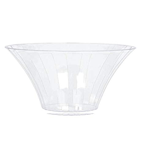Transparent Flared Bowl - Clear (2 sizes)