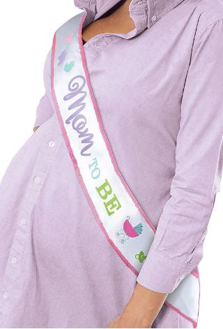 Mom to be Fabric sash