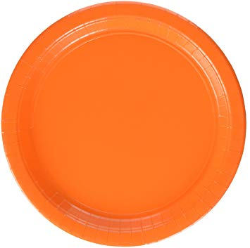 Orange Peel Paper Plates, 8ct (2 sizes)