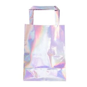 Iridescent Paper Party Bags, 5 Pcs