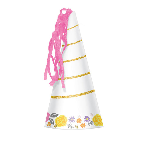 Magical Unicorn Horn Party Hats 8pcs