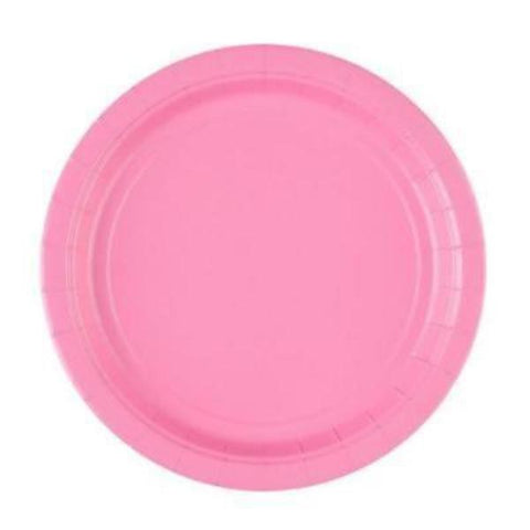 New Pink Paper Plates, 8 Pcs (2 sizes)