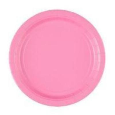 New Pink Paper Plates, 8ct (2 sizes)
