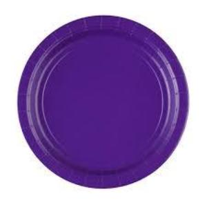 Purple Paper Plates, 8 Pcs (2 sizes)