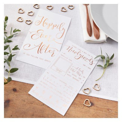 Advice Cards - Rose Gold, 10 Pcs