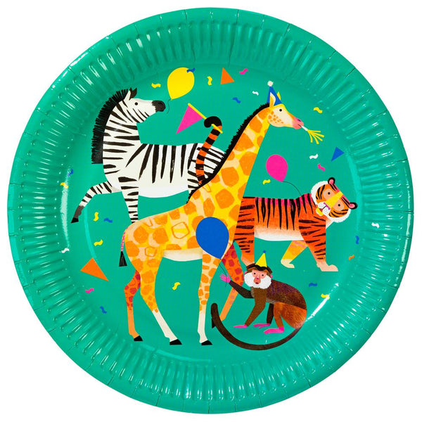 Party Animals Luncheon Paper Plates, 8 Pcs