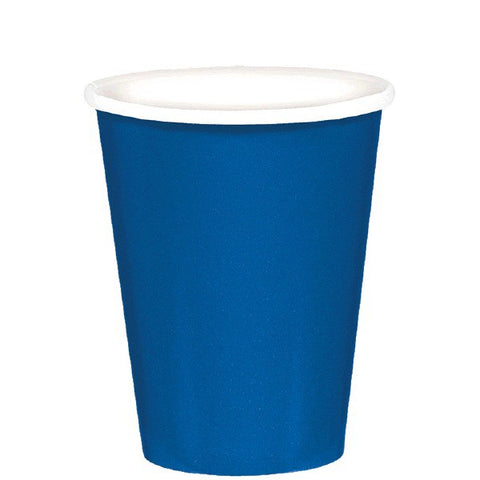 Bright Royal Blue Paper Cups, 8 Pcs
