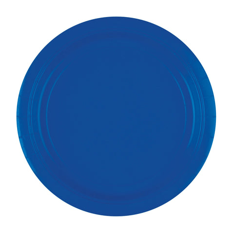 Bright Royal Blue Paper Plates, 8 Pcs (2 sizes)