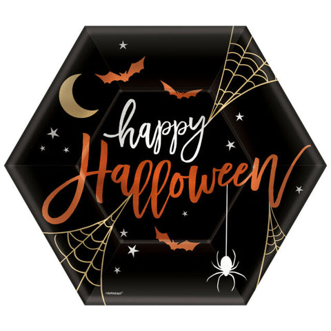 "Halloween 9"" Hexagon Plates"