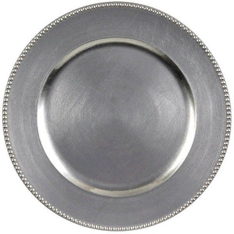Round Metallic Charger 14""