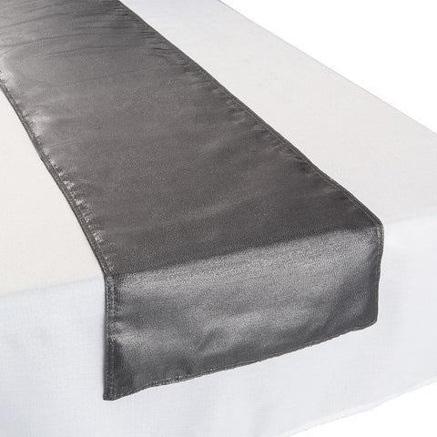 Metallic Silver Fabric Table Runner