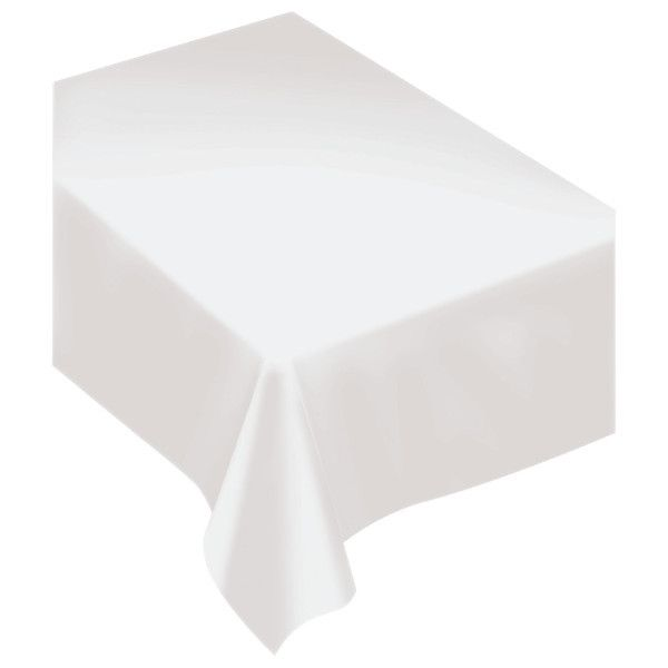 Frosty White Fabric Table Cover