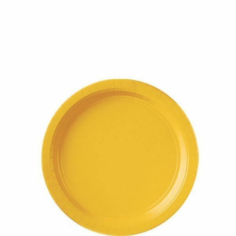 Yellow Sunshine Paper Plates, 8 Pcs (2 sizes)