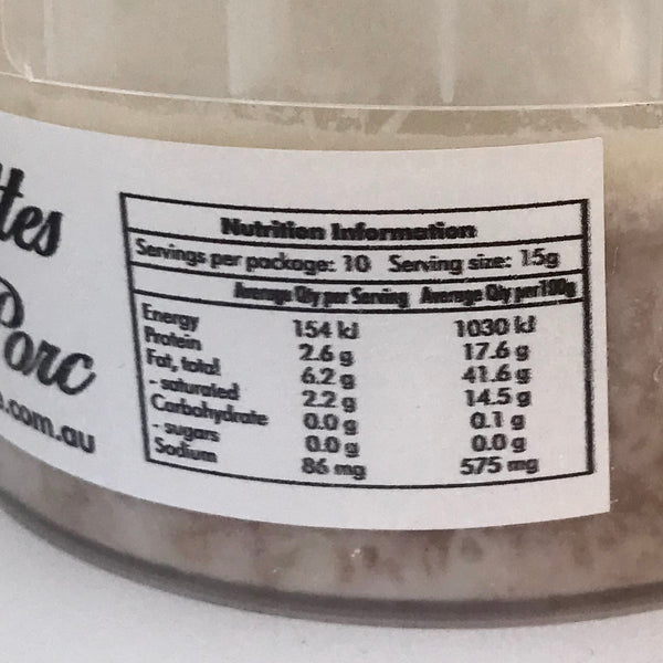 Pork Rillettes 150g (Free range) - ONLY for Sydney South-Eastern Suburb Delivery