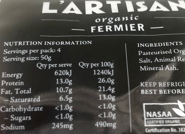 Petit Fermier 180g (Organic) - ONLY for Sydney South-Eastern Suburb Delivery