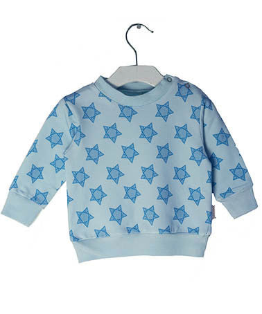 broken tricycle Star sweater blue