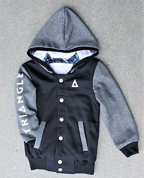 Triangle Bomber Hood Black