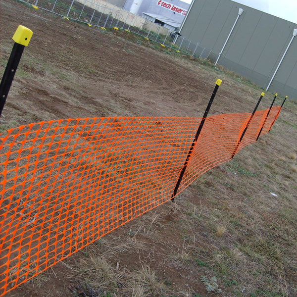 Orange Barrier Mesh Roll 50m x 1m