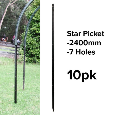 Star Pickets (Black) - 2400mm (10pk or Slings)