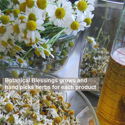 Botanical Blessings grows and hand picks herbs for each product