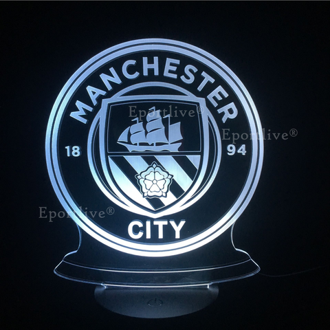 manchester_city_3d_lamp, manchester city gift, manchester city gift for kids