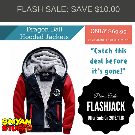 FLASH SALE: Dragon Ball Z Autumn Hooded Jackets | Save $10,00