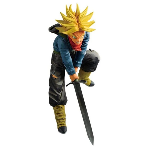 DBZ Super Saiyan 1 Trunks Smashing Sword Action Figure