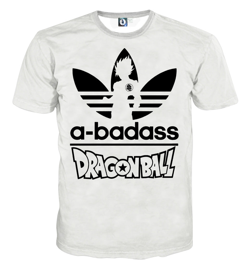 White Parody Goku A T Ball Adidas Stylish Badass Dragon Shirt lJKcTF13