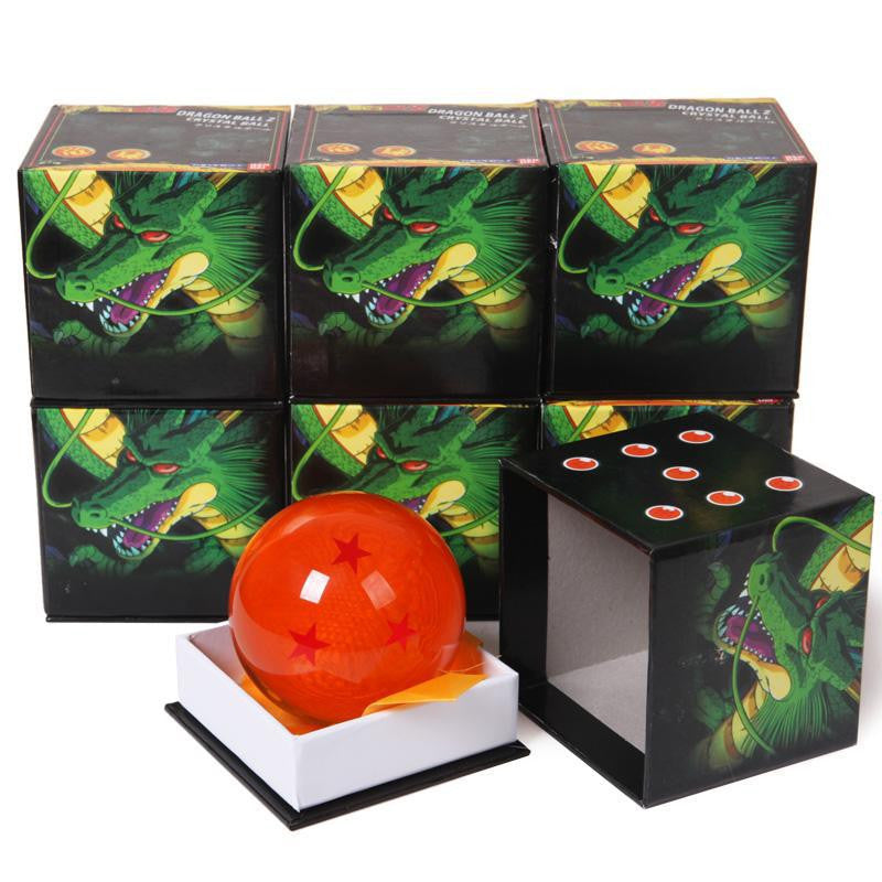 3 Inch 7.5cm Big Size Dragon Ball Z Orange Crystal Ball 1 to 7 Stars