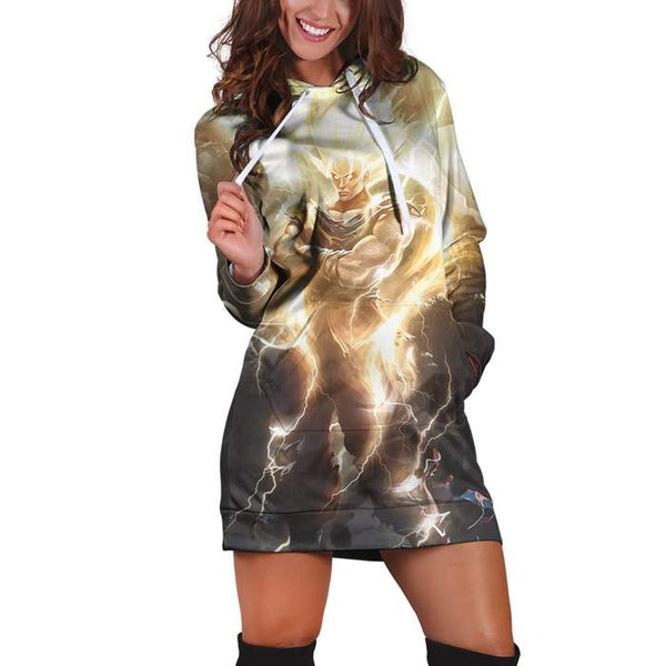 Dragon Ball Super Saiyan God Goku Dope Thunder Hoodie Dress