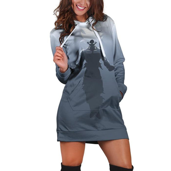 Dragon Ball Super Son Goku Cool Mighty Pose Gray Hoodie Dress
