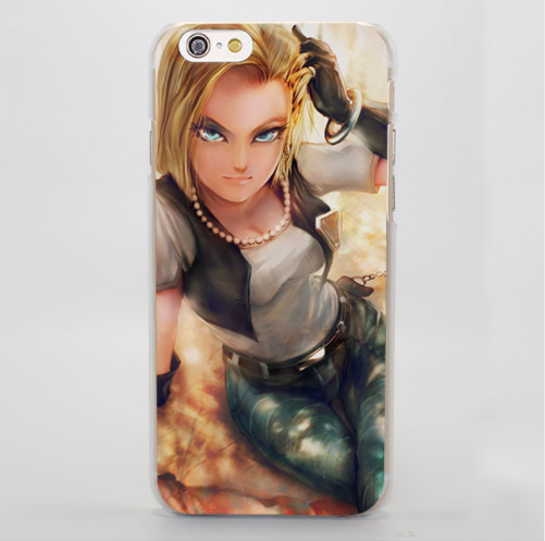 super popular 39461 88aa4 Dragon Ball Android 18 Realistic Style Fan Art Graphic iPhone 4 5 6 7 8  Plus X Case