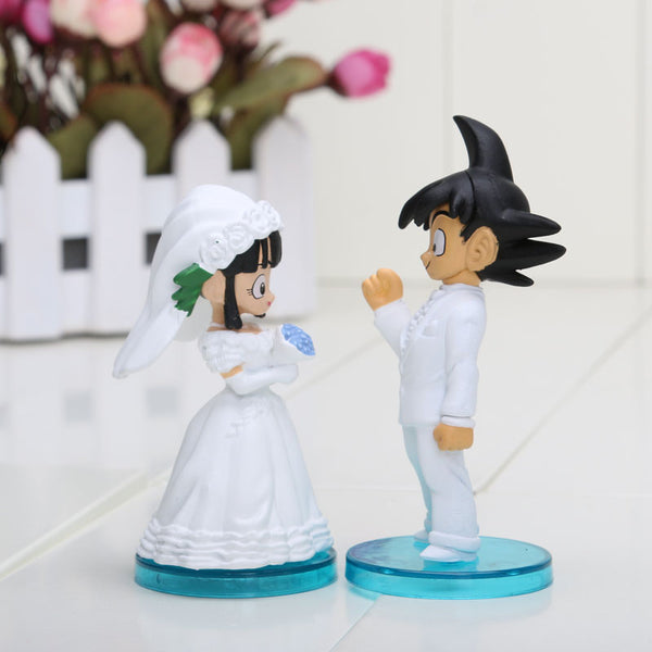 Dragon Ball Goku Chi-Chi Wedding PVC Figure Toys 8cm 3inch Set 2Pcs