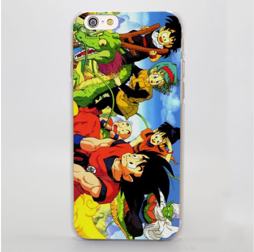 Dragon Ball Goku Chichi Bulma Gohan Piccolo Shenron Manga iPhone 4 5 6 7 8 Plus X Case