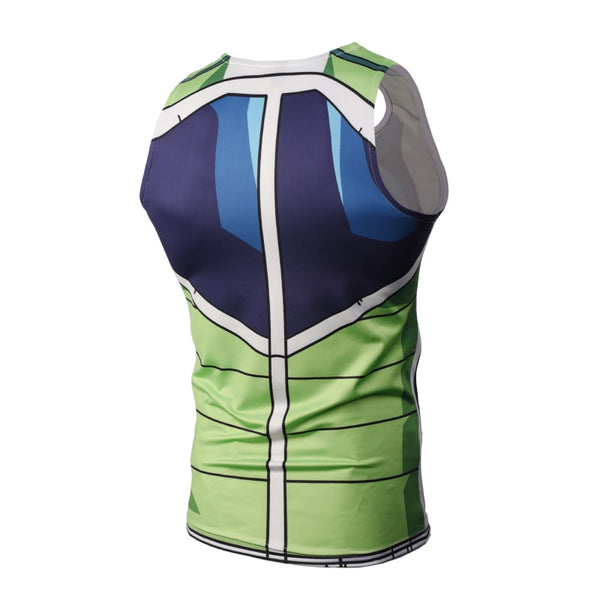 Dragon Ball Z Bardock Battle Armor Suit Compression Tank Top