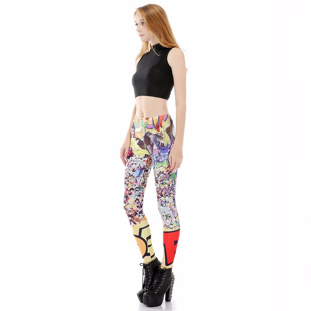 Dragon Ball Z Characters Women Compression Fitness Leggings Tights