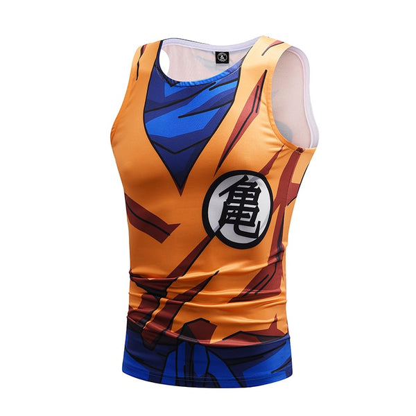 Dragon Ball Z Mighty Son Goku Master Roshi Symbol Compression Tank Top