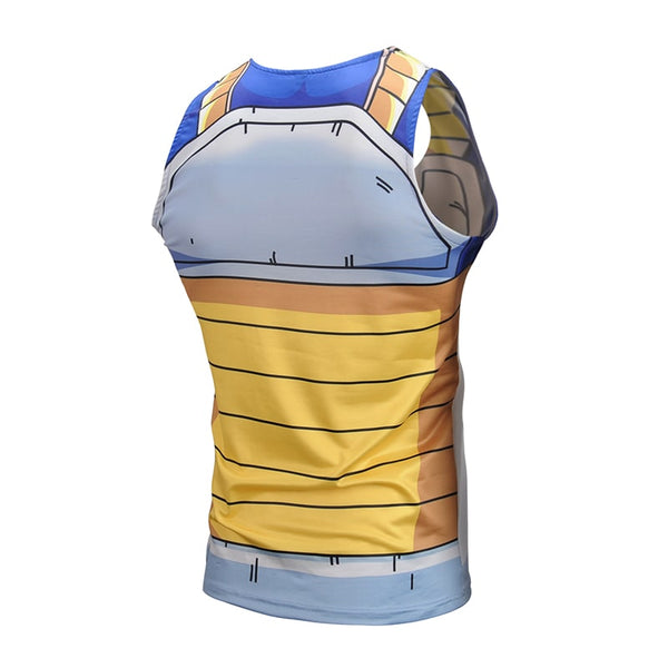 Dragon Ball Z Vegeta Cool Blue Body Suit Armor Compression Tank Top