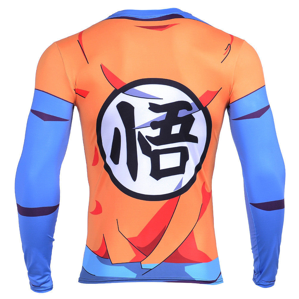 King kai training goku symbol long sleeves 3d compression t shirt always protected from click to delivery buycottarizona Choice Image