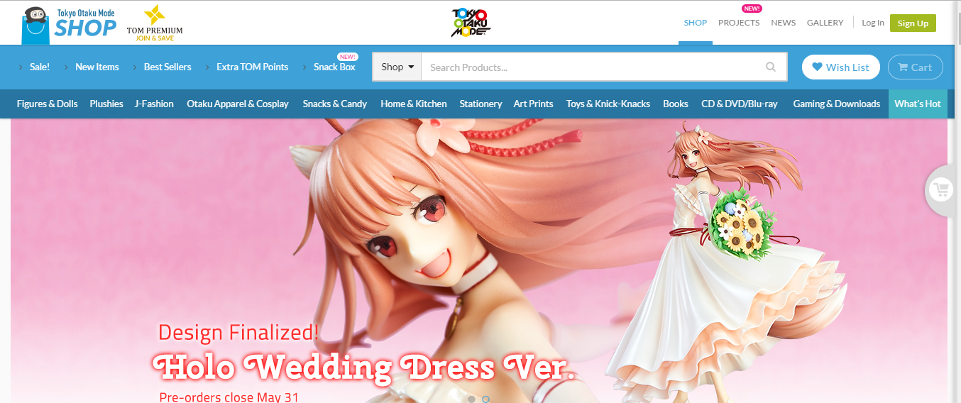 website for otaku