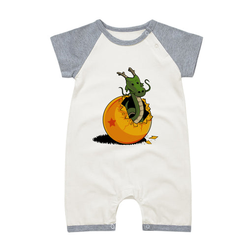 DBZ The Marvelous Shenron Gray Short Sleeve Baby Romper